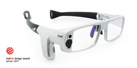 Eye tracking glasses for medical training